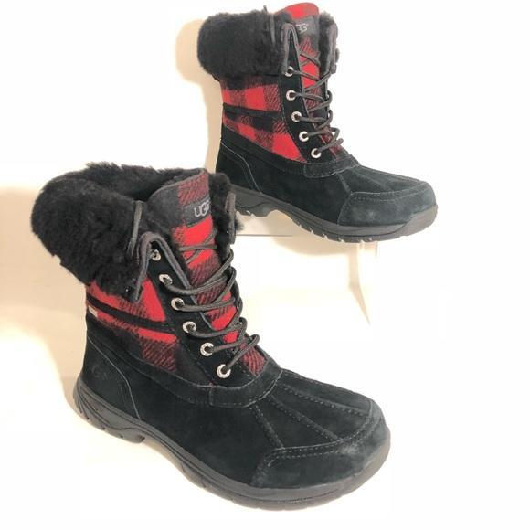 03053b60085 UGG Butte Redwood Vibram Winter Boots Red Pendel
